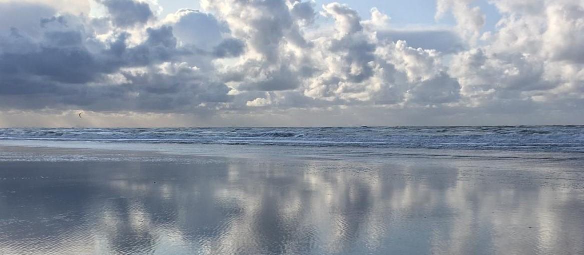 Ciel et mer en miroir