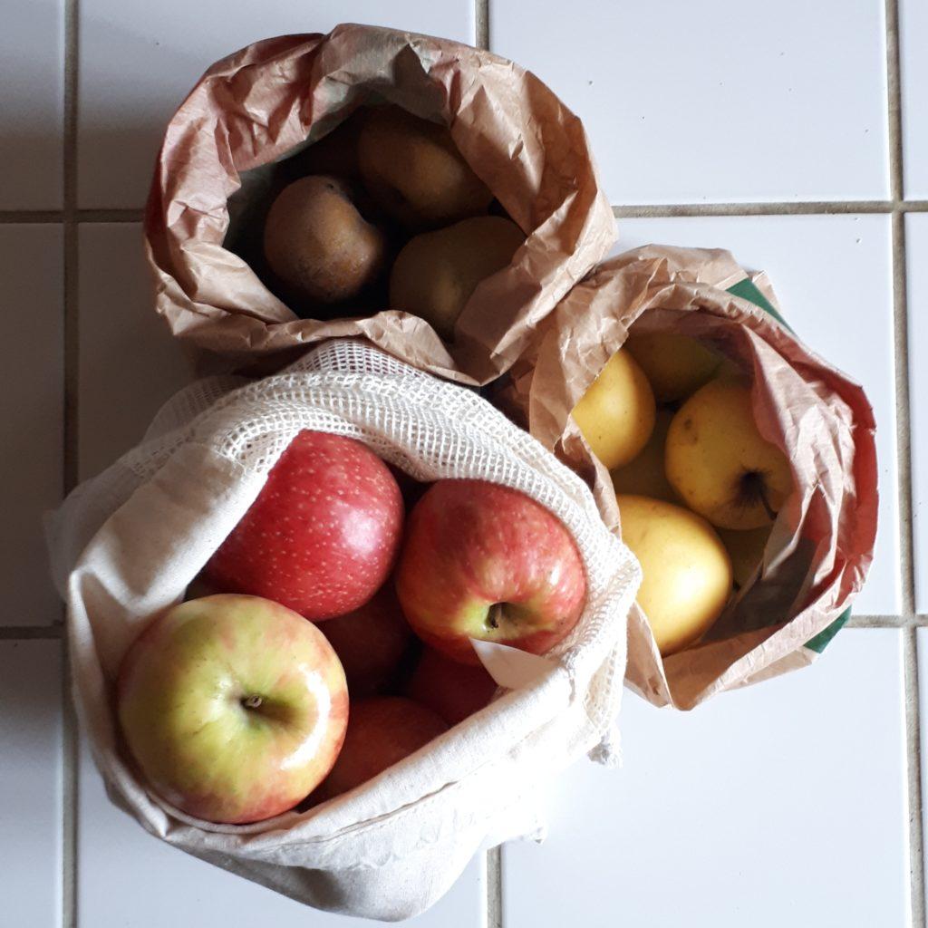 Courses pour la monodiète de pommes