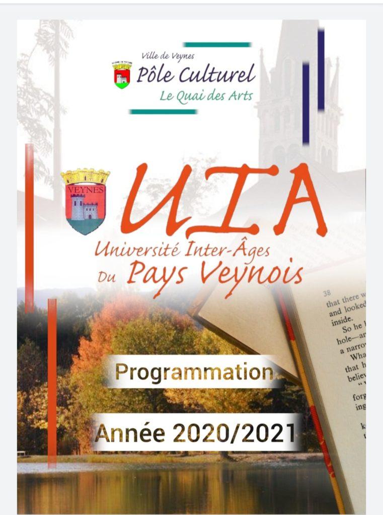 Programme de conférences de l'Université Inter-Ages du Pays Veynois