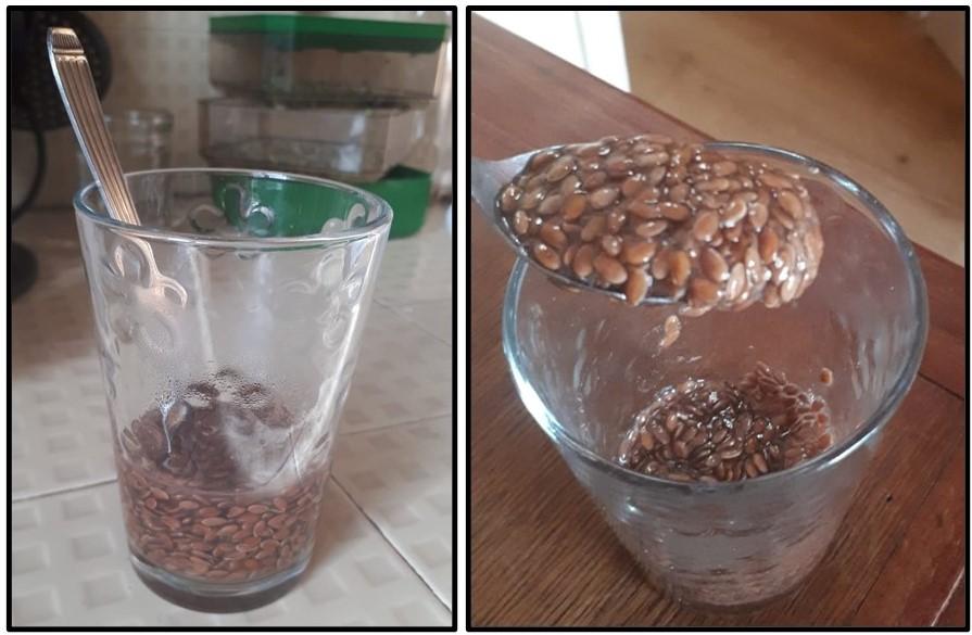 Transit : le mucilage de graines de lin en images.