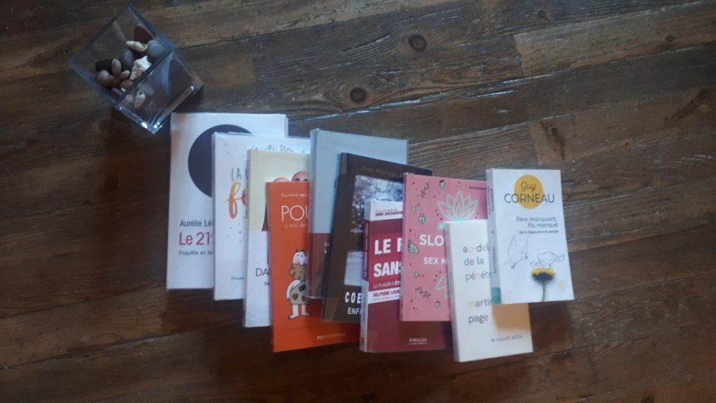 Ensemble de livres proposés par SoloLuna21 au cabinet de Veynes.