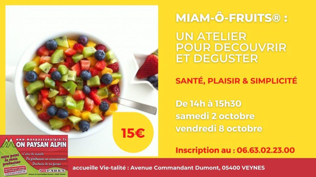 Ateliers Miam-ô-Fruits au programme en octobre